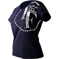 T-SHIRT LOGO - CIRCLE LADIES navy