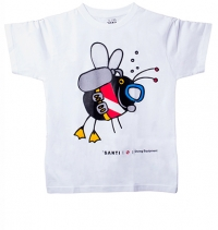 T-Shirt – Dive Fly White Kids